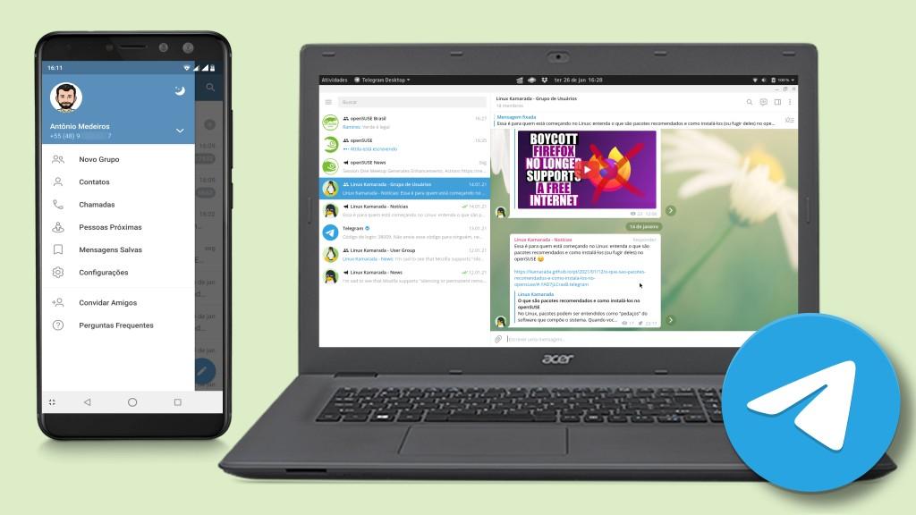 The Telegram Messenger Linux Kamarada